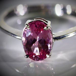 Tajik Spinel 2.02ct Solid 18K White Gold Ring